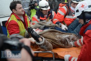 Один из раненых на Грушевского Фото: Макс Левин