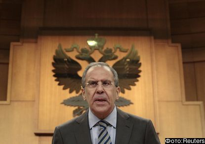 Russian FM Lavrov attends news conference in Moscow