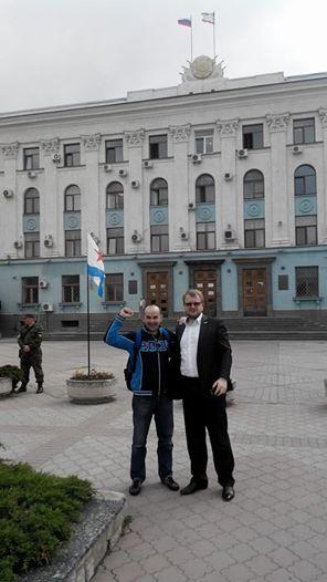 Сепаратист Долгов с Полонским в Симферополе.май 2014