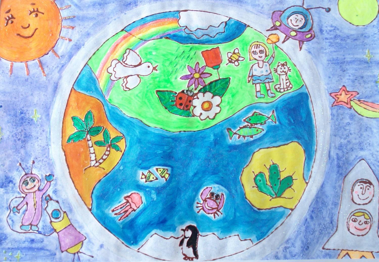 Как я представляю свою планету земля рисунки