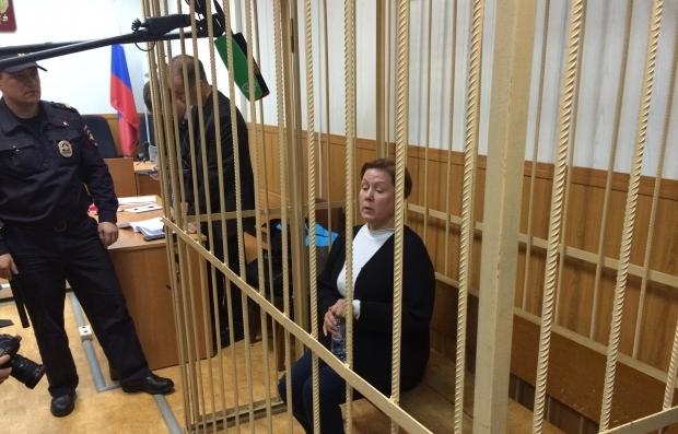 Наталья Шарина в Таганском суде Москвы. Фото: УНИАН