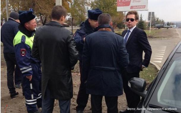 Задержание журналистов СТБ в российском Донецке.
