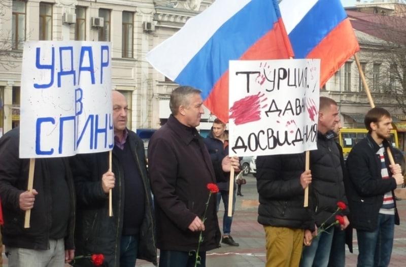 Акция протеста в центре Симферополя