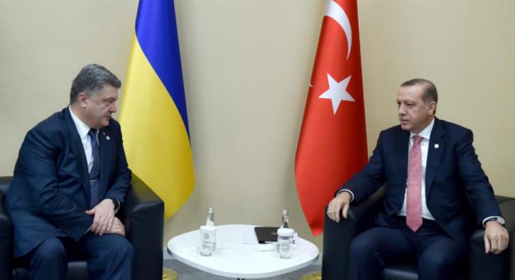 Встреча президента Украины Порошенко и президента Турции Эрдогана в Париже. Фото: president.gov.ua