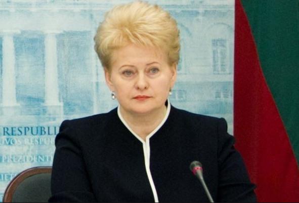 Президент Литвы Даля Грибаускайте. Фото: Telegraf-EPA