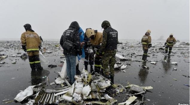 СКрассматривает три основных причины крушения самолета вРостове-на-Дону