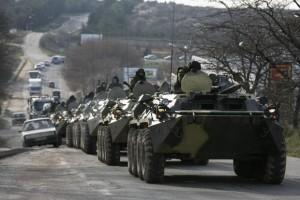 Перегон российской военной техники в Крыму, март 2014 года
