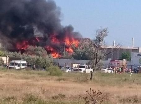 ВКрыму загорелось сооружение фестиваля «Казантип»