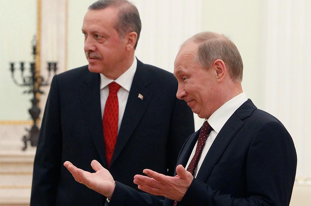 Путин обсудил сЭрдоганом операцию Турции вАфрине