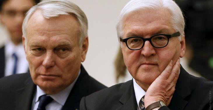 Главы МИД Франции и Германии Жан-Марк Эйро и Франк-Вальтер Штайнмайер Фото: Reuters