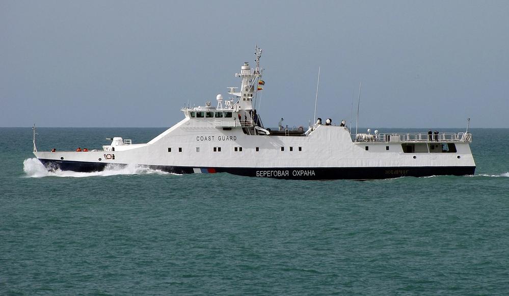 ВКаркинитском заливе находится сторожевой корабльРФ