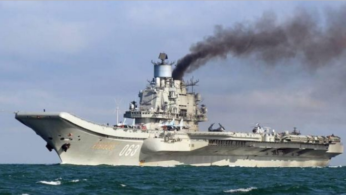 Авианесущий крейсер ВМФ РФ «Адмирал Кузнецов» Фото: EPA