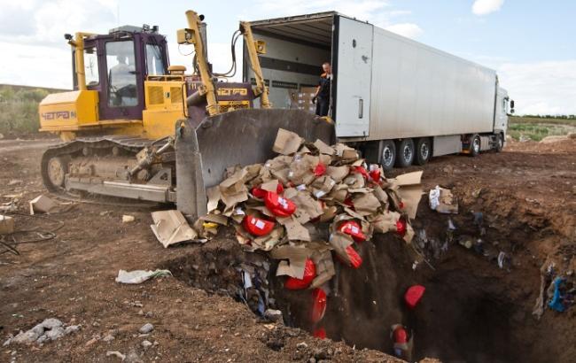 В Российской Федерации уничтожили практически 11 тыс. тонн санкционных продуктов с2015 года