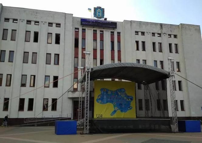 Скандал: День независимости Украины на фоне карты без Крыма